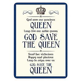 God Save The Queen small metal sign    (fd 3022)