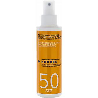 Korres Yoghurt Face & Body Sunscreen Emulsion SPF50