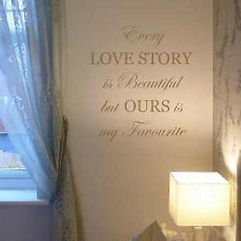 Every love story is beautiful wall quote