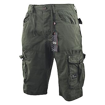 Mens crosshatch chinos cargo shorts jeans combat 3/4 knee length chaseforth