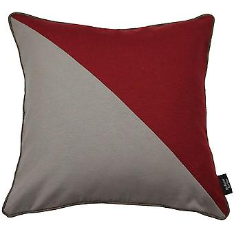 Mcalister textiles panama patchwork rouge et coussin taupe