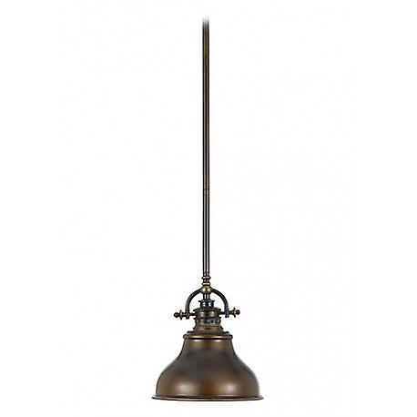 1 lumière Dome Ceiling Mini pendentif Bronze Palladian