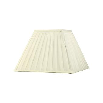 Diyas Leela Square Pleated Fabric Shade Ivory 175/350mm X 250mm