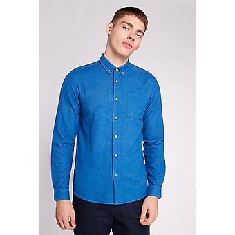 Hymn Garrison Brushed Twill Shirt Blue