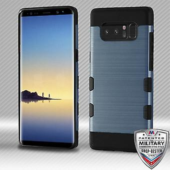 MYBAT Slate Blue/Black Brushed TUFF Trooper Hybrid Protector Cover for Galaxy Note 8
