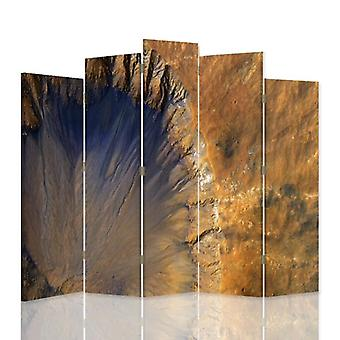 Decorative Room Divider, 5 Panels, Canvas, Structural Abstraction 1