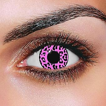 Pink Cheetah Contact Lenses