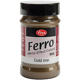 Ferro Metal Effect Textured Paint 3 Ounces Iron Gold Vvferro 2905