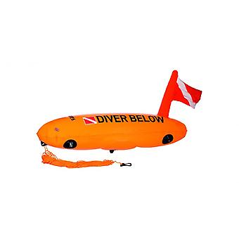 Mares Diver Below Safety Torpedo Buoy - Orange