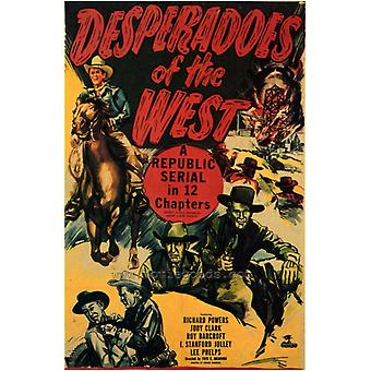 Desesperados de la impresión de póster de película oeste (27 x 40)