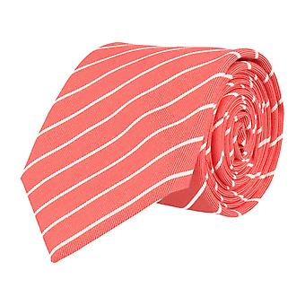 Pellens & Loïck classic tie silk silk tie orange striped
