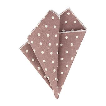 Snobbop Chocolate Braun handkerchief with white dots handkerchief Cavalier cloth