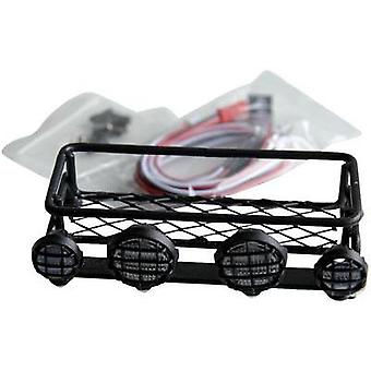 Amewi 010-20422 Roof Rack (Orange) + 4 LED Searchlights Amewi