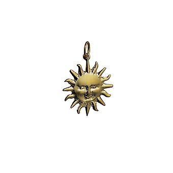 9ct Gold 21mm Full Sun Pendant or Charm