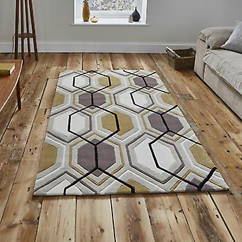 Rugs - Hong Kong Hexagon - HK7526 Beige Yellow