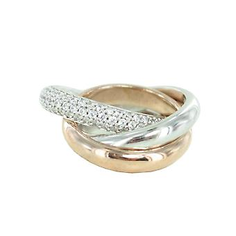 Esprit Collection Damen Ring Silber Rosé Zirkonia Periboa Gr.19 ELRG91620A190