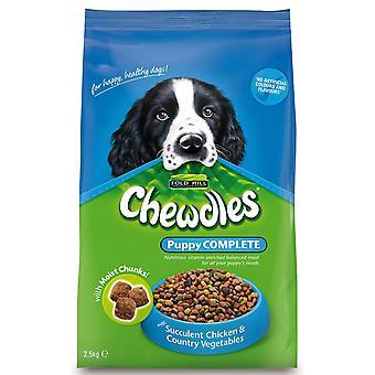 Chewdles komplet hvalp semi-fugtig kylling & Veg 2,5 kg