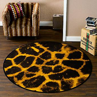 Animal print carpet giraffe round 170 cm | 102126