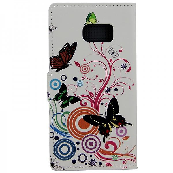 Cover wallet pattern 2 for Samsung Galaxy S6 G920 G920F
