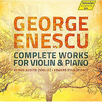 George Enescu/Azoitei/Stan - Comp Works for Vln & Pno [CD] USA import