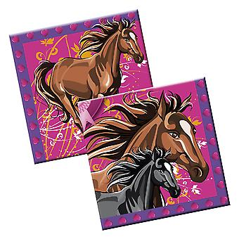 Horses kids party napkin 20 piece children's birthday party