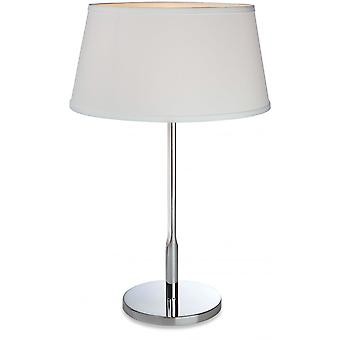 Firstlight Modern Polished Chrome Table Desk Lamp With Drum Shade