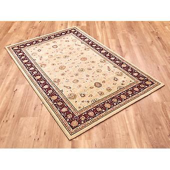 Noble Art 6529-191 Ivory centrum met diepe rode en gouden rand en viscose accenten Rectangle Rugs traditionele tapijten