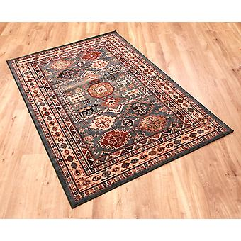 Kashqai 4306-400 Green, russet and cream. Rectangle Rugs Traditional Rugs