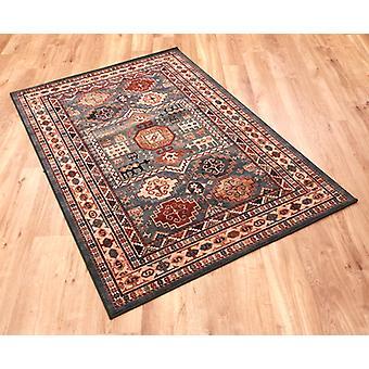 Kashqai 4306-400 crème, groen en roodbruin rechthoek tapijten traditionele tapijten