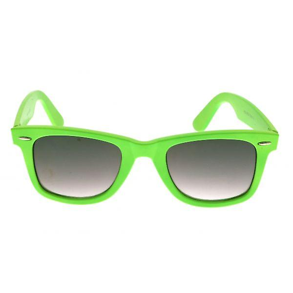 W.A.T Bright Green Graduated Retro Wayfarer Sunglasses