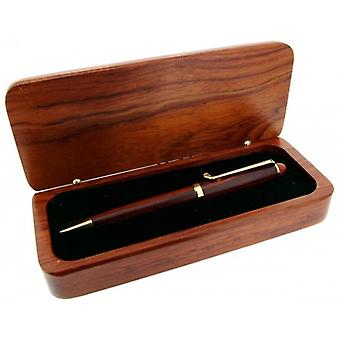 Gift Time Products Deluxe Box with Golf Club Clip Ballpoint Pen - Dark Brown/Gold