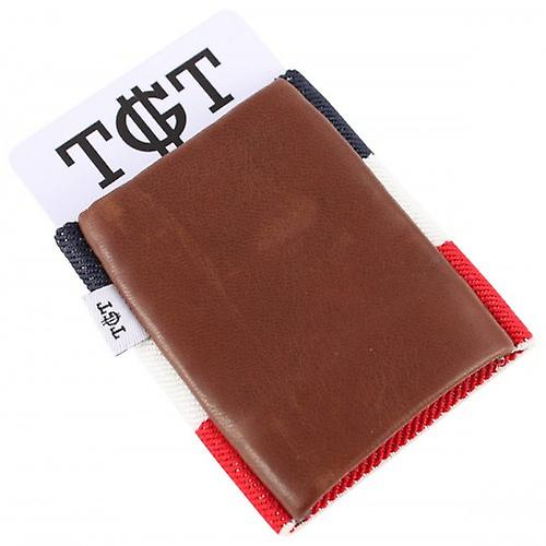 TGT Tight Portefeuilles Americana 2.0 Card élastique Holder - Brown / Multi-couleur