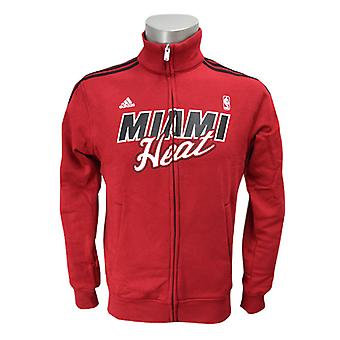 ADIDAS miami heat NBA basketball track top [red]