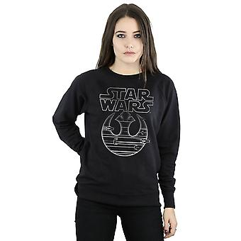 Star Wars Women's The Last Jedi Resistance Logo Metallic Sweatshirt