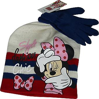 Disney Minnie Mouse Girls Set of Beanie & Gloves