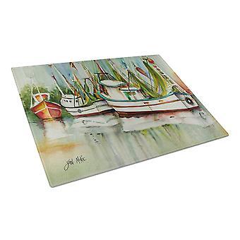 Carolines Treasures  JMK1067LCB Ocean Springs Shrimper Glass Cutting Board Large