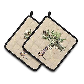 Carolines Treasures  8480PTHD Palm Tree Pair of Pot Holders