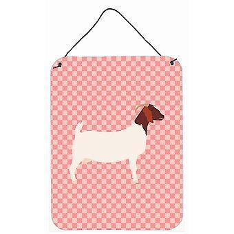 Boer Goat Pink Check Wall or Door Hanging Prints
