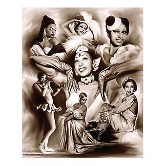 Azúcar morena Josephine Baker cartel grabado por Gregorio Wishum (x 11)