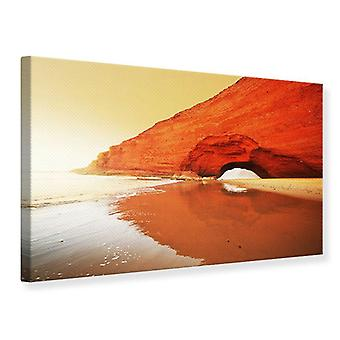Canvas Print Mirroring In The Water