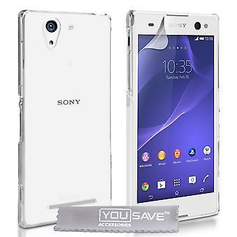 Yousave Zubehör Sony Xperia C3 Hardcase - kristallklar