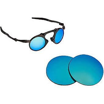 Best SEEK Polarized Replacement Lenses for Oakley MADMAN Blue Mirror