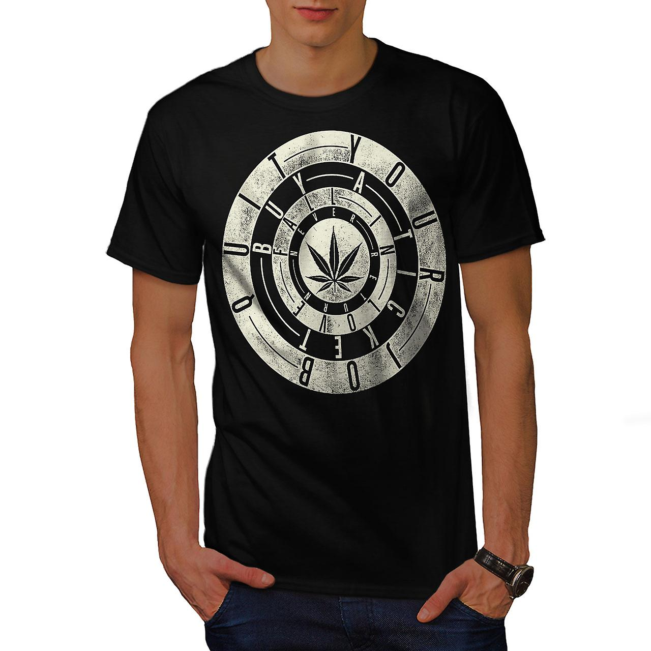 Inspirational Weed Rasta Men Black T-shirt | Wellcoda