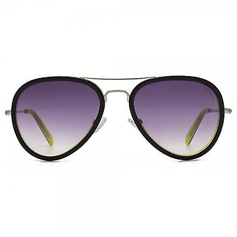 Hook LDN Supersonic Sunglasses In Black On Lime Yellow
