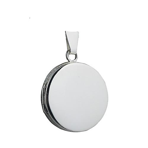 Silver 20mm plain flat round Locket