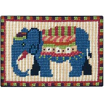 Blue Elephant Needlepoint Kit