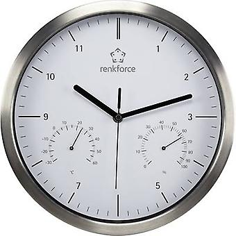 Quartz Wall clock Renkforce A1201 30 cm x 5 cm Sil