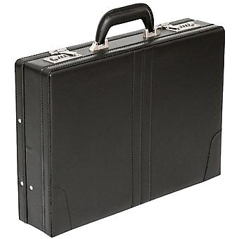 Tassia Attache Briefcase Leather Look Pu Executive Case Expanding Business Bag