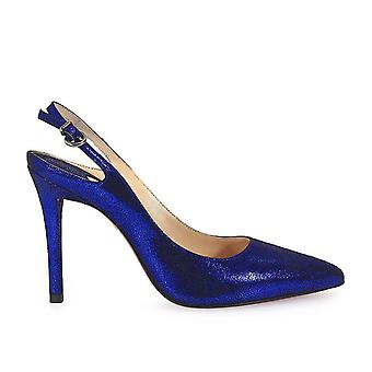Franco Colli ladies FC1046 Blau leather pumps