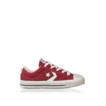 Converse men's 160923C Red coarse canvas of sneakers